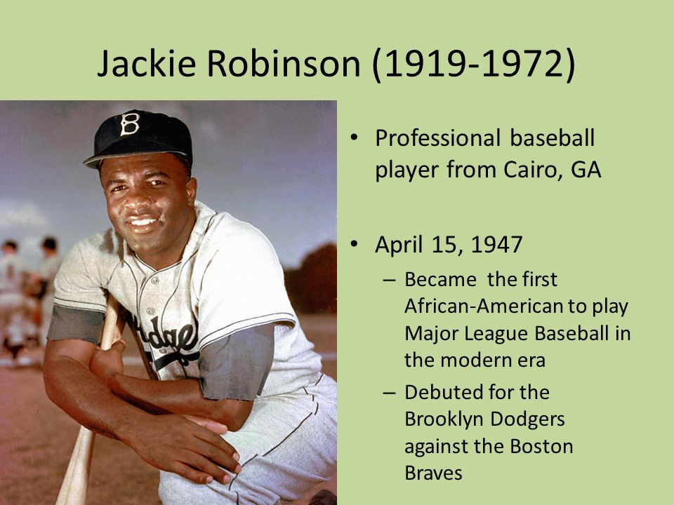 jackie robinson first african american baseball Jackie robinson: the first african-american professional baseball player from voa.