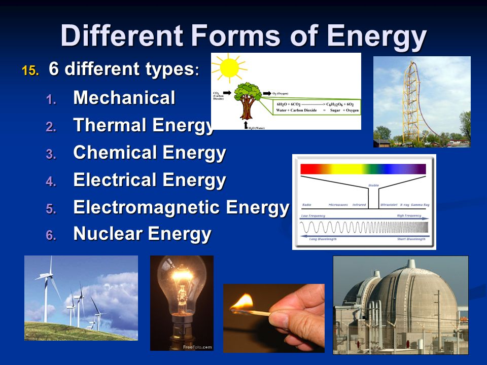 different types of energy and its There are basically seven types of alternative energy and  there are several different types of alternative energy and the one  solar energy and its.