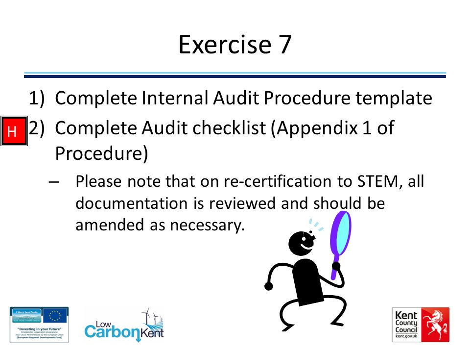 internal audit procedure template - introduction to environmental management through stem