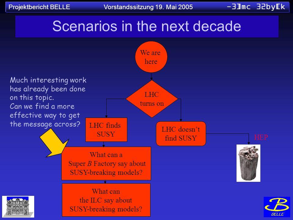 Scenarios in the next decade