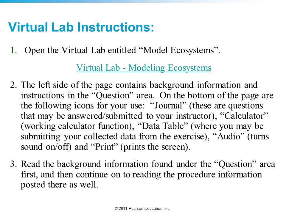 AP Environmental Science Virtual Lab : Modeling Ecosystems - ppt ...