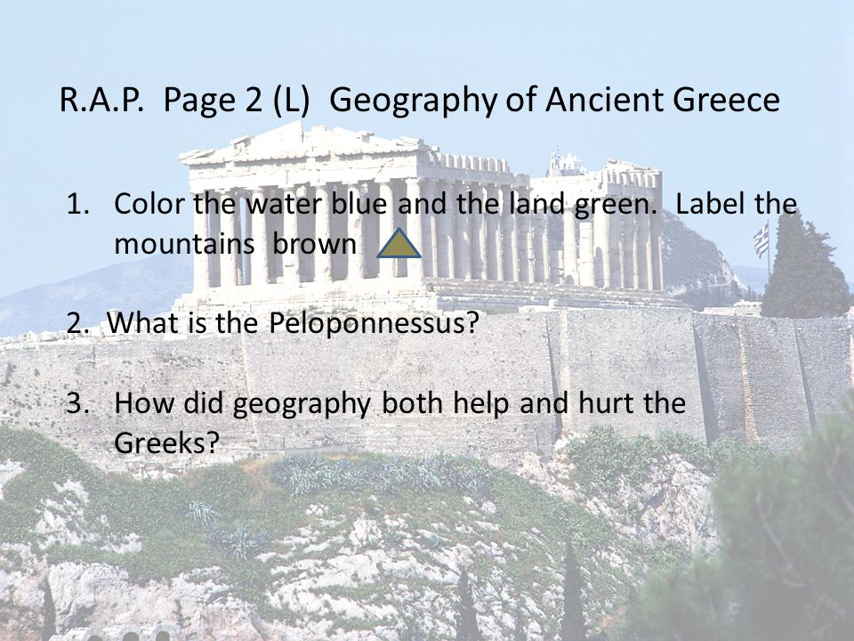 five themes of geography for ancient greece