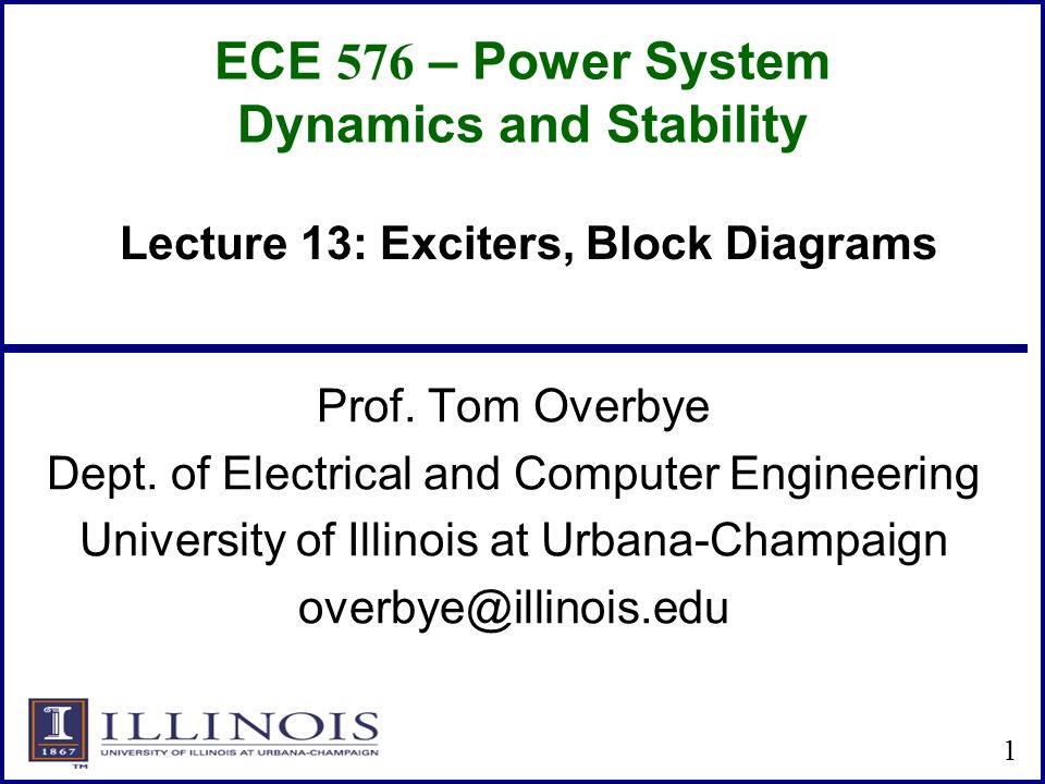 Ece 576 Power System Dynamics And Stability Ppt Video Online