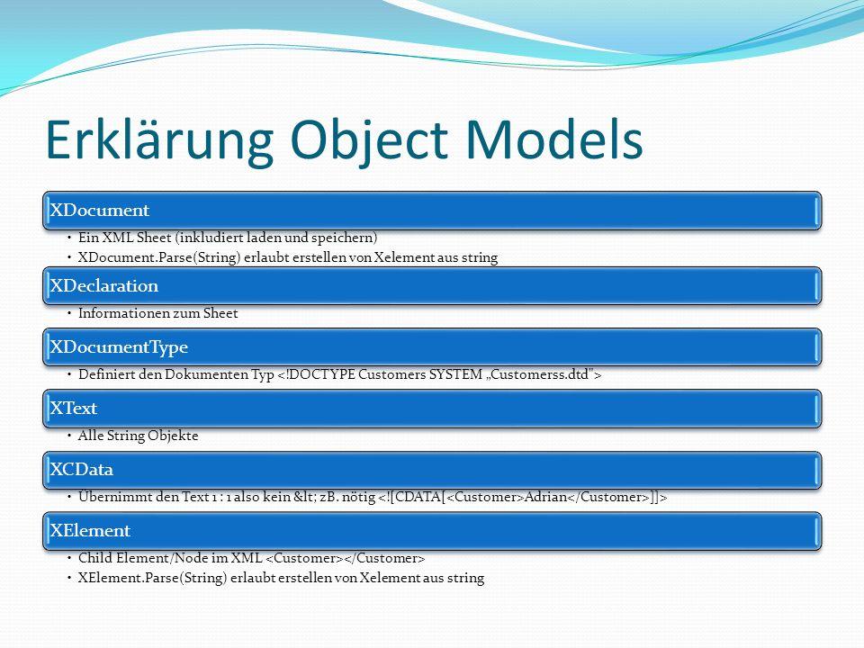Erklärung Object Models