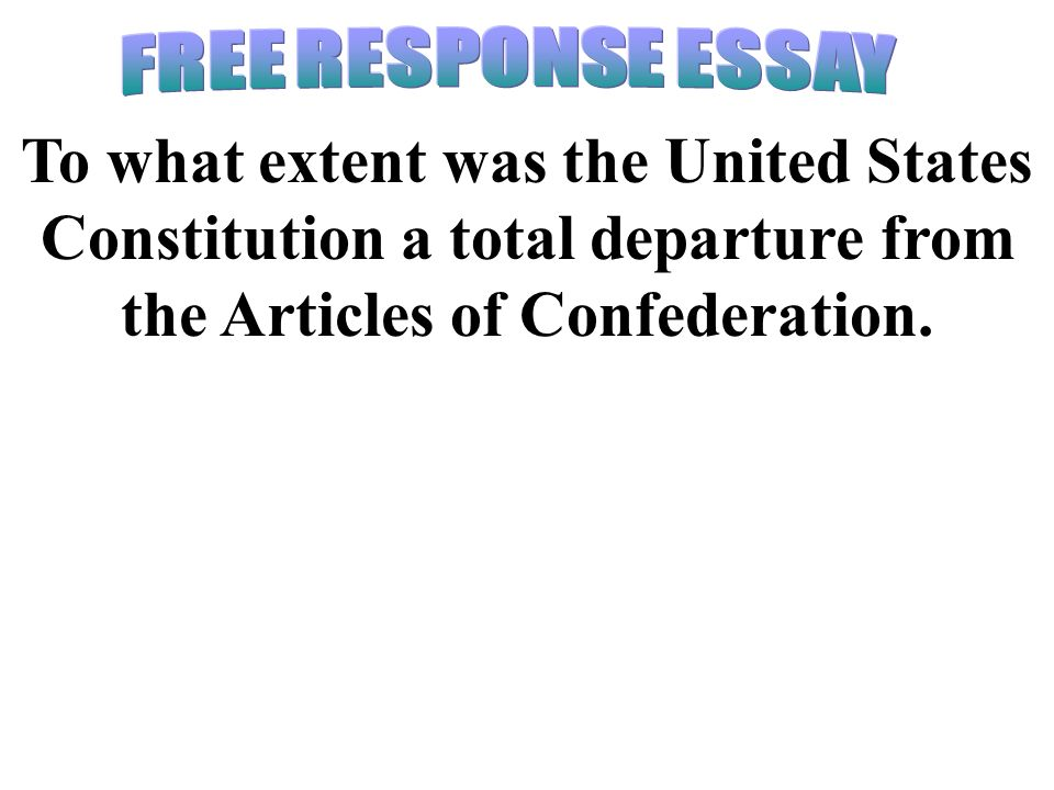 Essays about the articles of confederation
