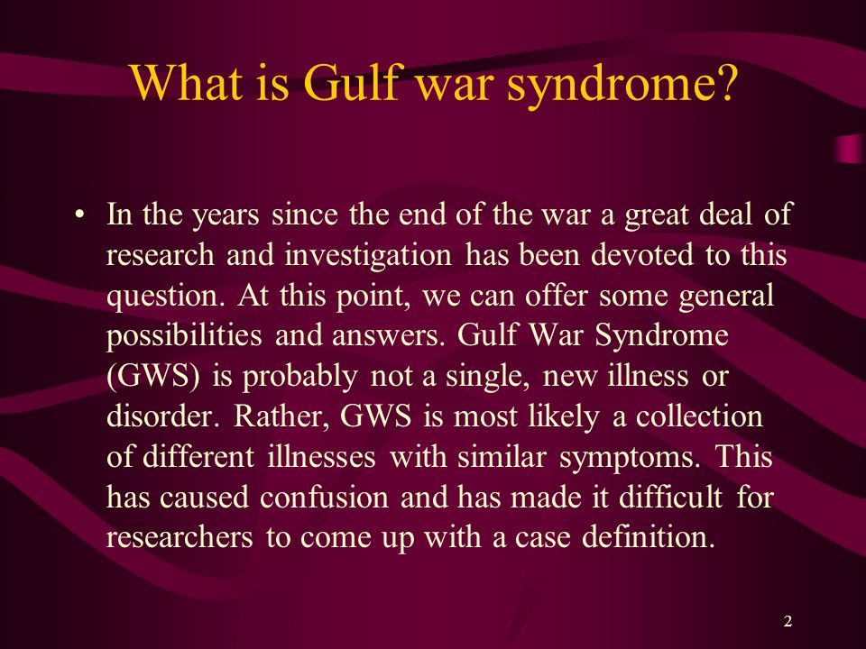 the causes of the mysterious gulf war illness New research suggests there are two distinct forms of gulf war illness,  gulf war illness is a mysterious malady  new study pinpoints two distinct forms of.