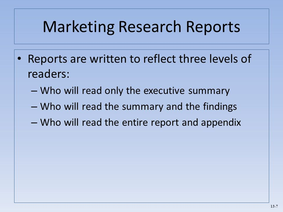 Notes on marketing research