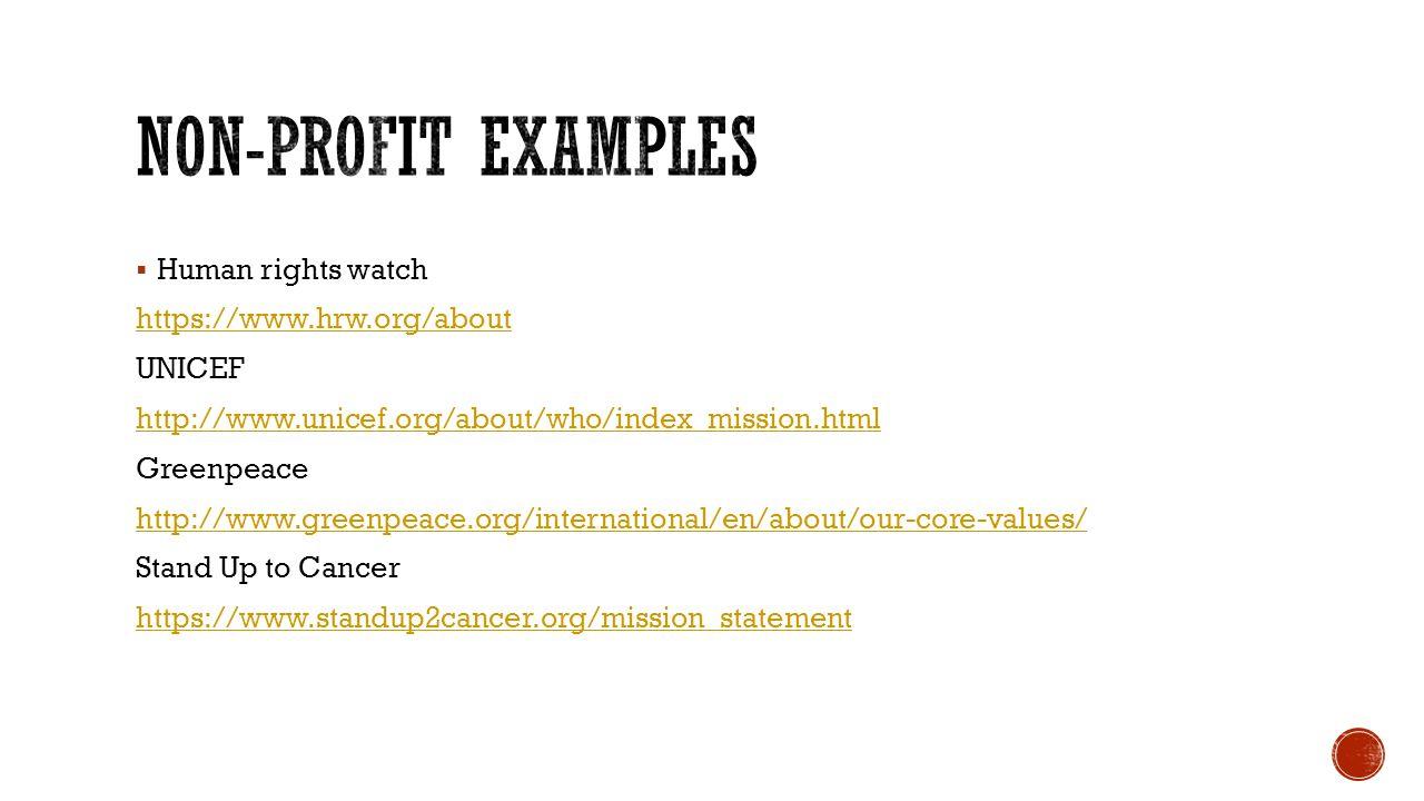 non profit mission statement examples