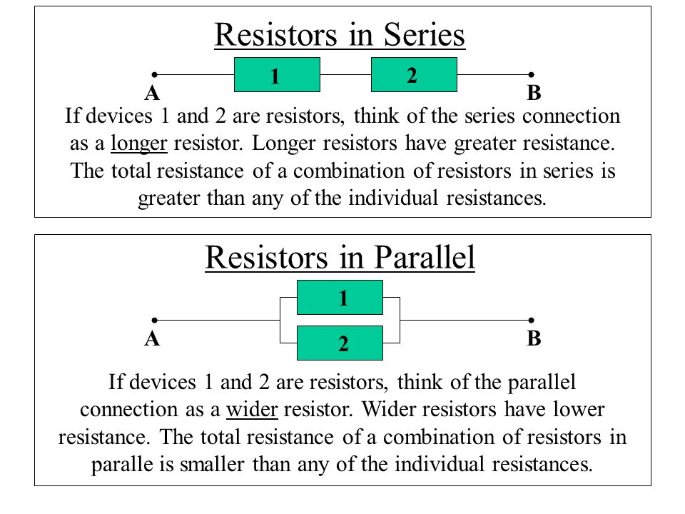 resistors series and parallel Ohm's law iii—resistors in series and parallel however, all wires that make connections and the connections themselves qualify as series resistance.
