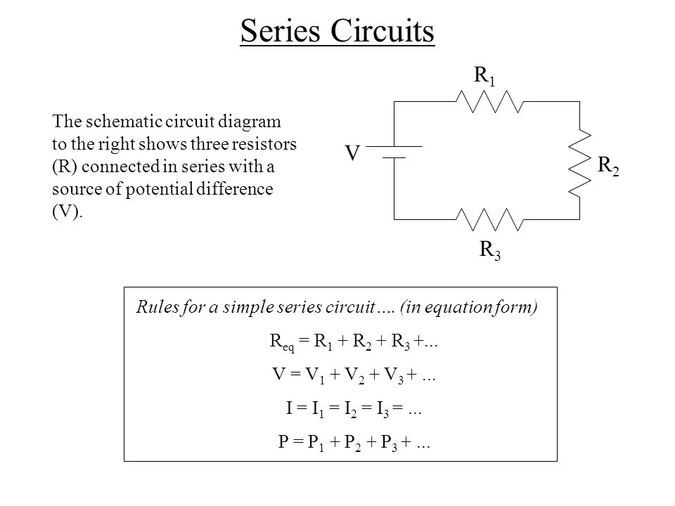series and parallel circuits Air washington electronics – direct current characteristics of series-parallel circuits with simple series circuits, all components are connected end-to.