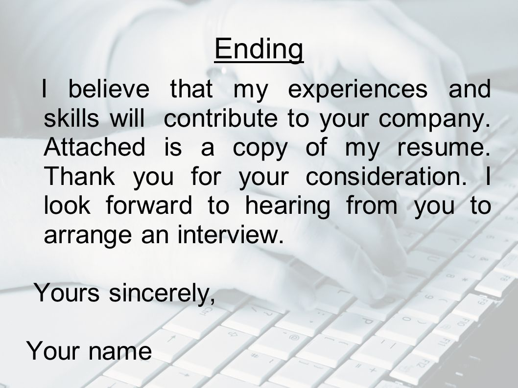 i look forward to hearing from you cover letters