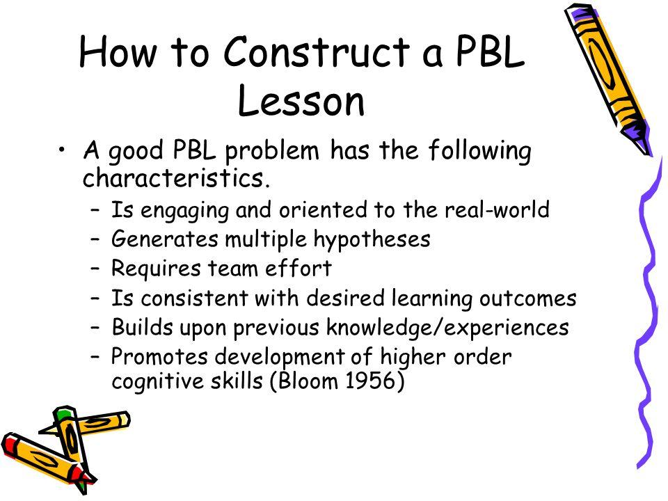 characteristics of problem based learning pdf