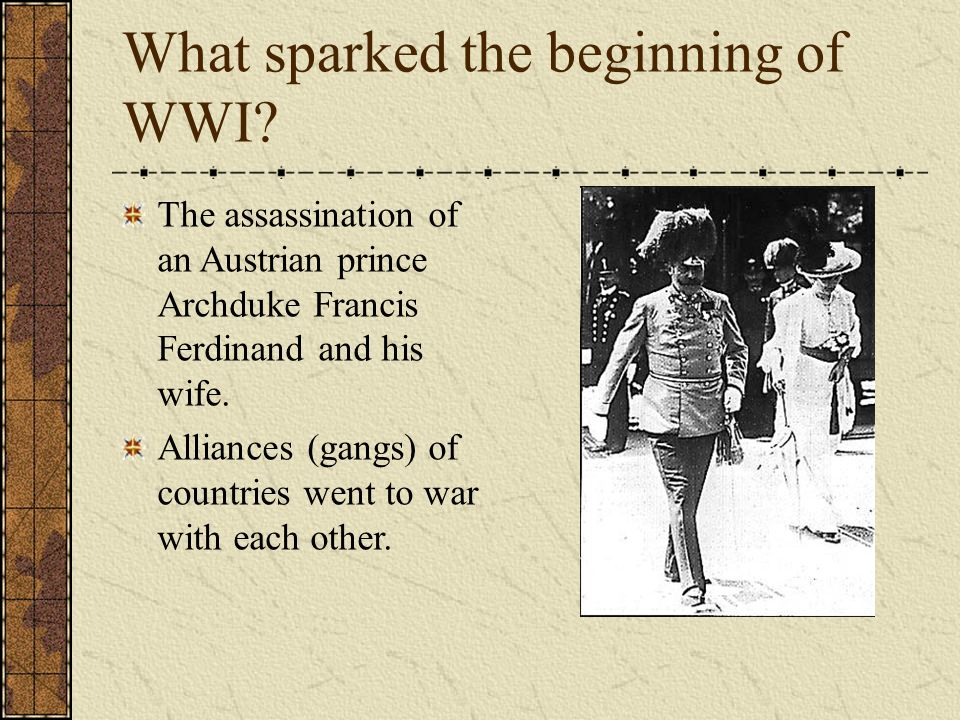 Image result for an assassination in europe sparked the beginning of ww1