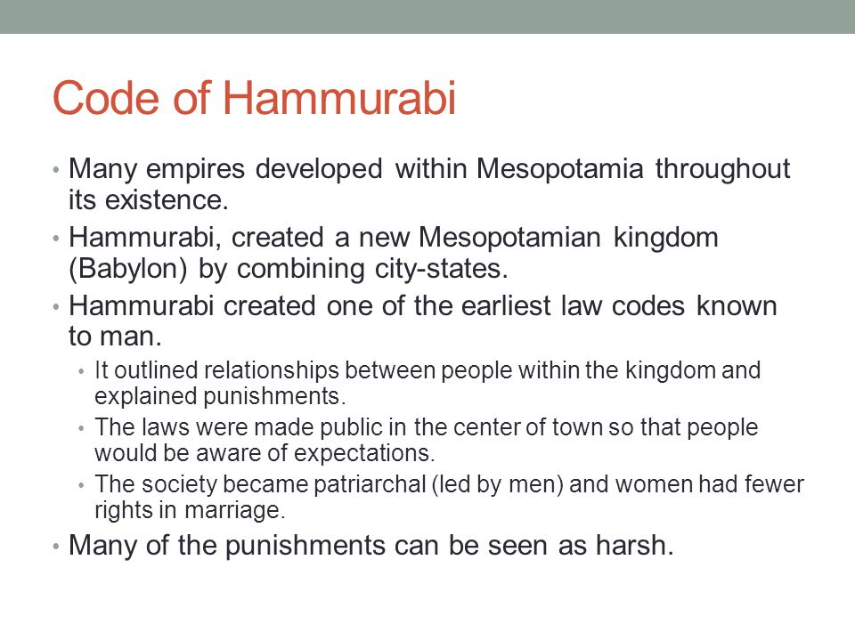 hammurabi patriarchal Find out more about the history of code of hammurabi, including videos, interesting articles, pictures, historical features and more get all the facts on historycom.