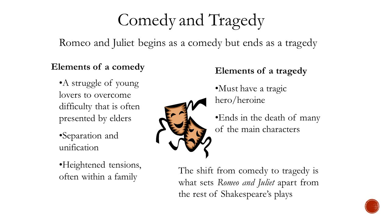 comic elements in romeo and juliet Why would shakespeare, then, theoretically, dilute the pathos of romeo & juliet by using these comical elements he could have simply.