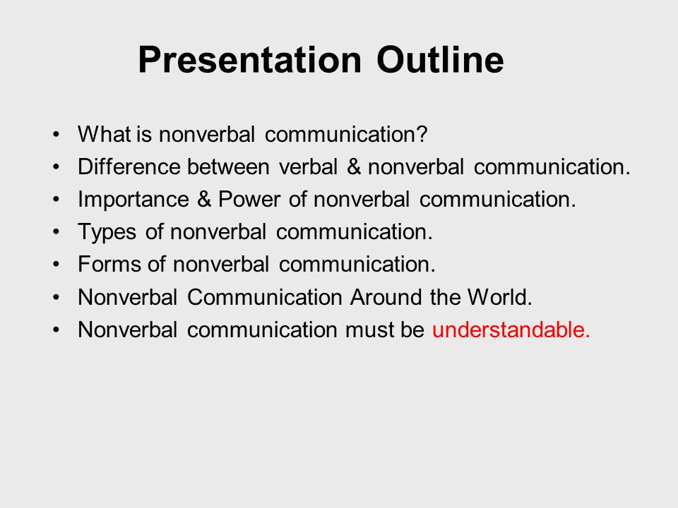 importance of nonverbal communication