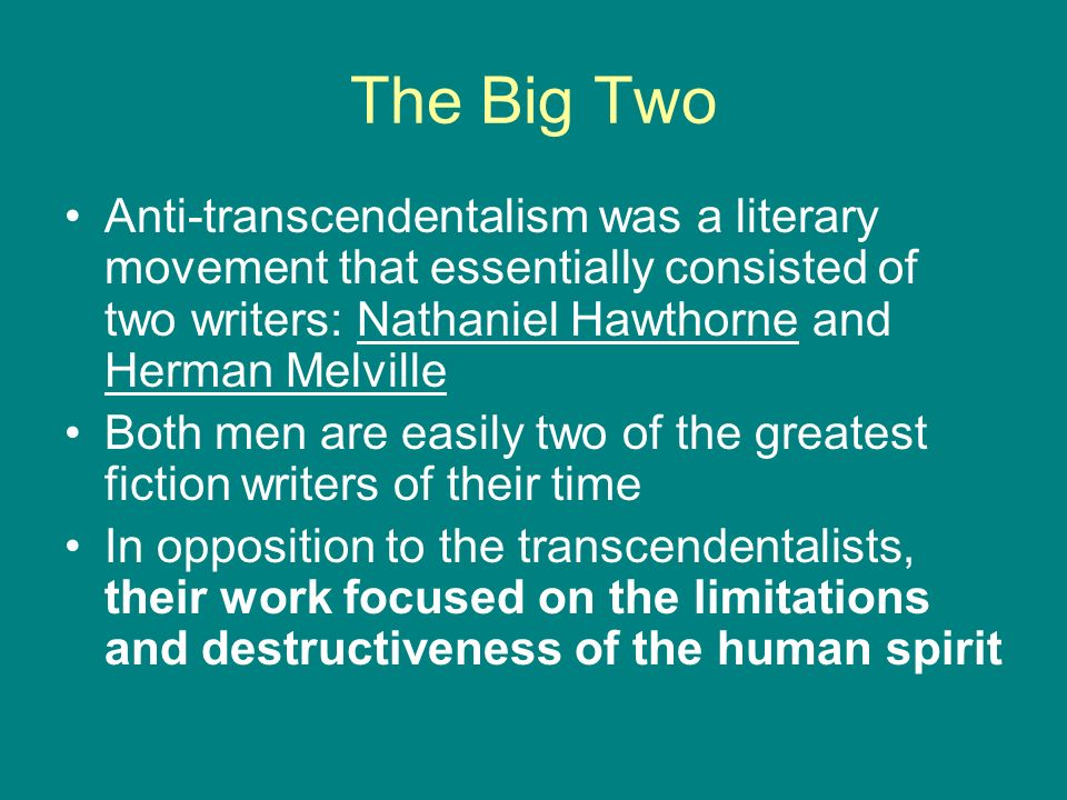 Transcendentalism | Study Guides and Book Summaries