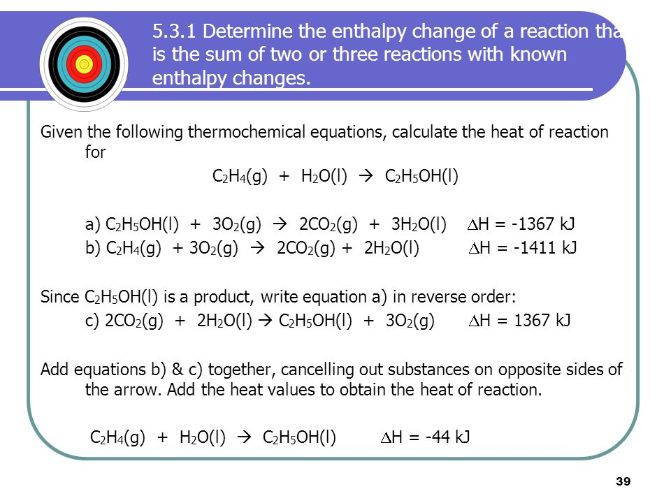 how to determine the enthalpy change of a reaction