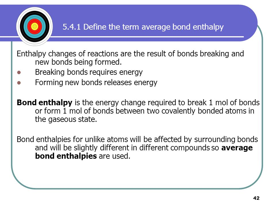 relationship between bond energy and enthalpy changes