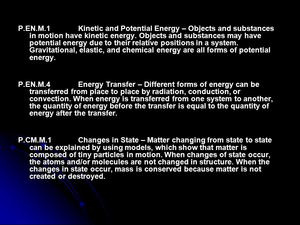 Physical Science States of Matter Kinetic & Potential Energy - ppt ...