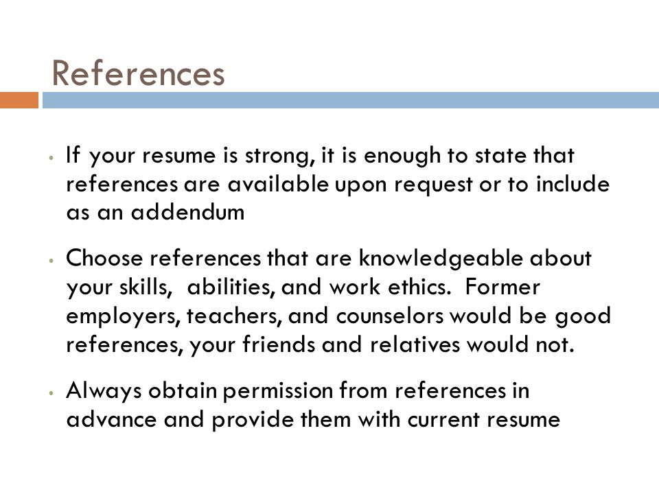 Include References Available Upon Request On Resume Linkedin