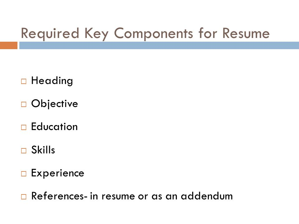 References Required For Resume