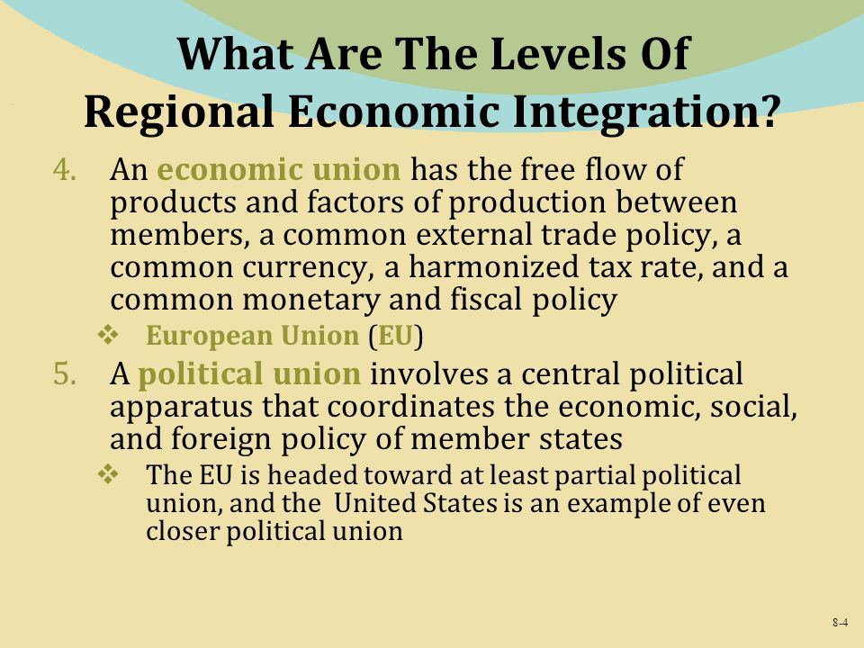 the levels of economic integration economics essay Levels of the vertical chain or to create  portions of this essay draw on material in my  economics theories of vertical integration and related non.