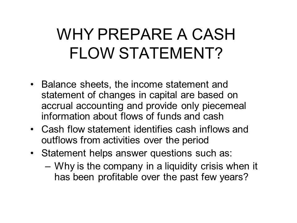 how to complete a cash flow statement
