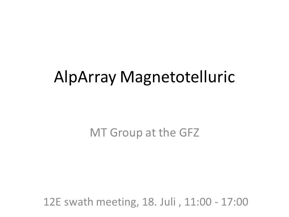 AlpArray Magnetotelluric