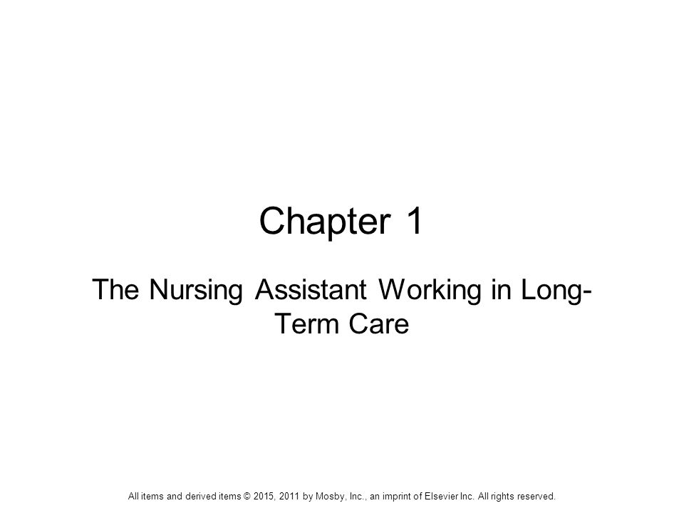 The nursing assistant working in long term care ppt download the nursing assistant working in long term care fandeluxe Image collections