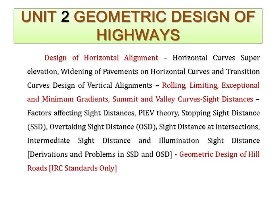 geometric design of highways pdf