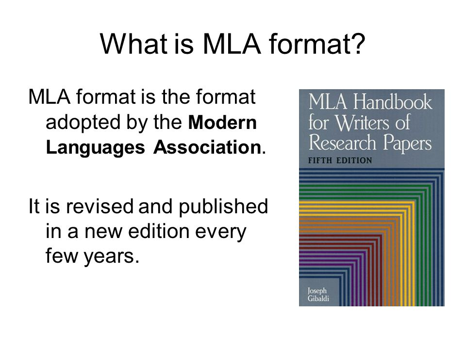 MLA Format What it is. How to use it.. - ppt download