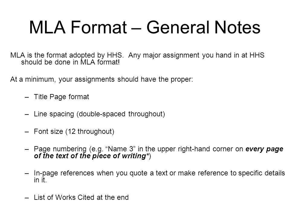 proper mla format for writing a paper