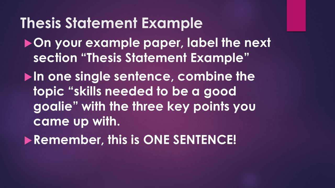 Thesis label