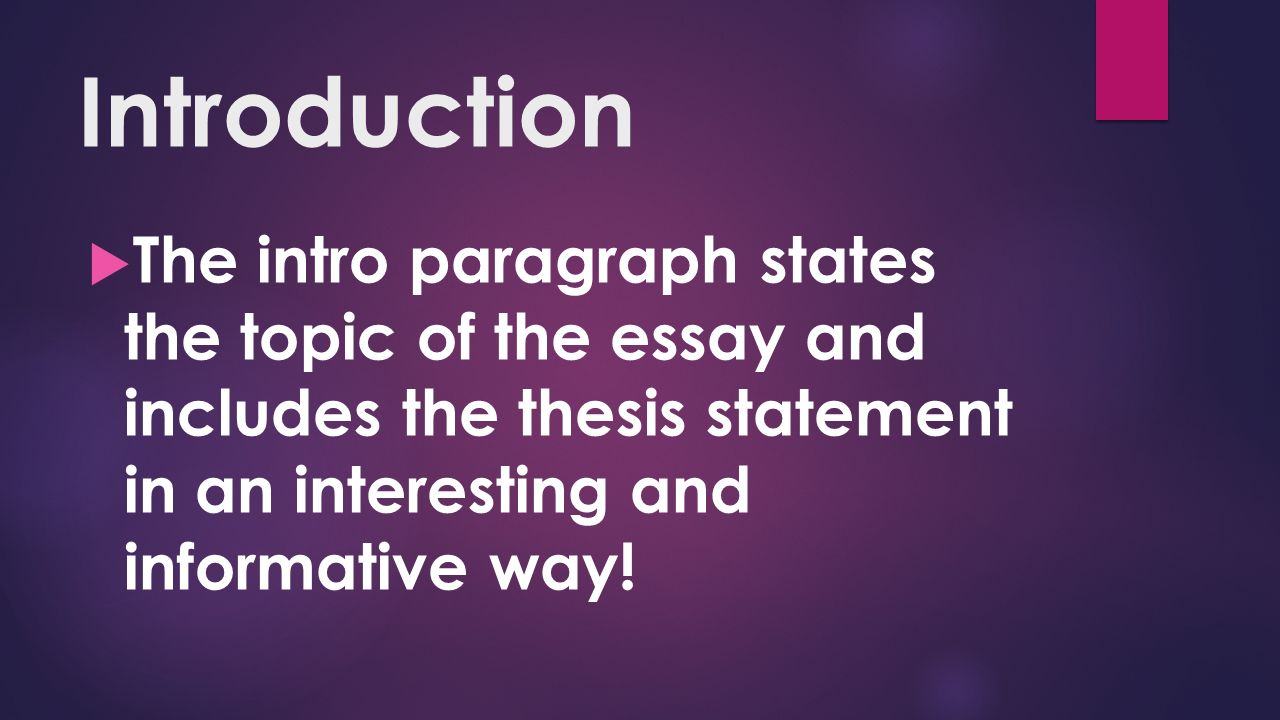 thesis includes Thesis statements & introductory paragraphs page updated: 11 -feb-2013 by the end of this week, you should comprehend what a thesis statement is, how to identify a thesis, and how to write one.