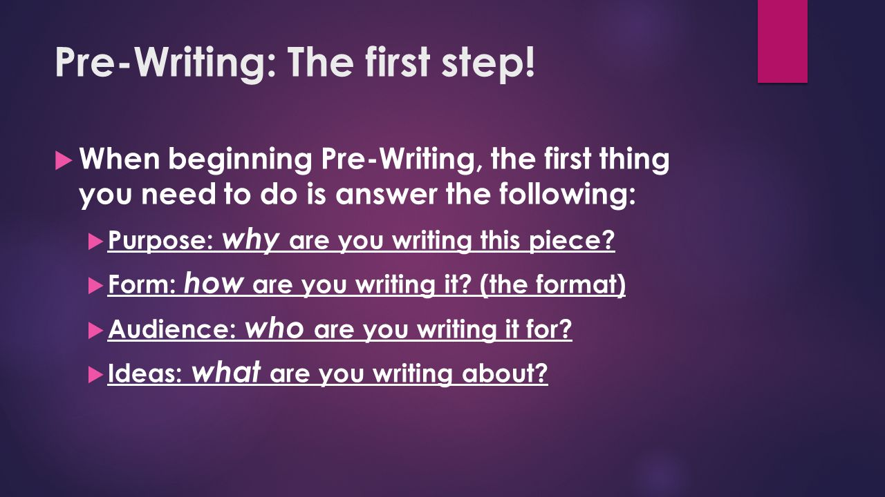 Prewriting steps essay writing
