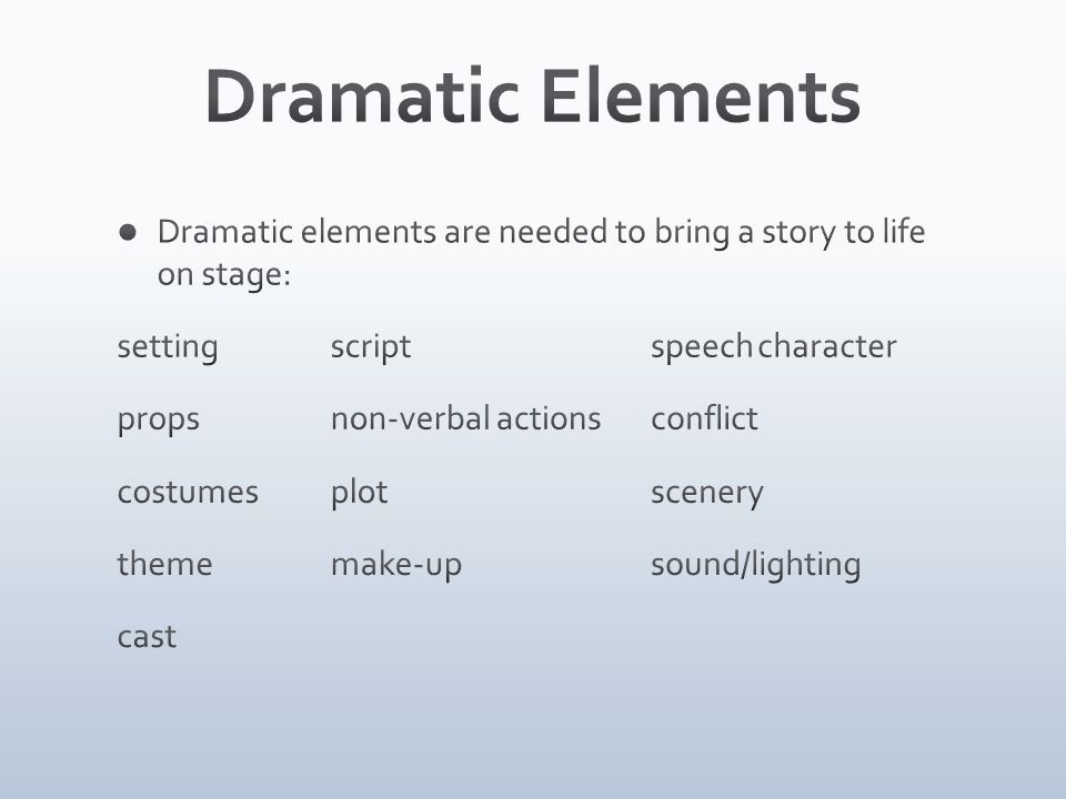 A drama is a story acted on stage for an audience ppt download – Elements of Drama Worksheet