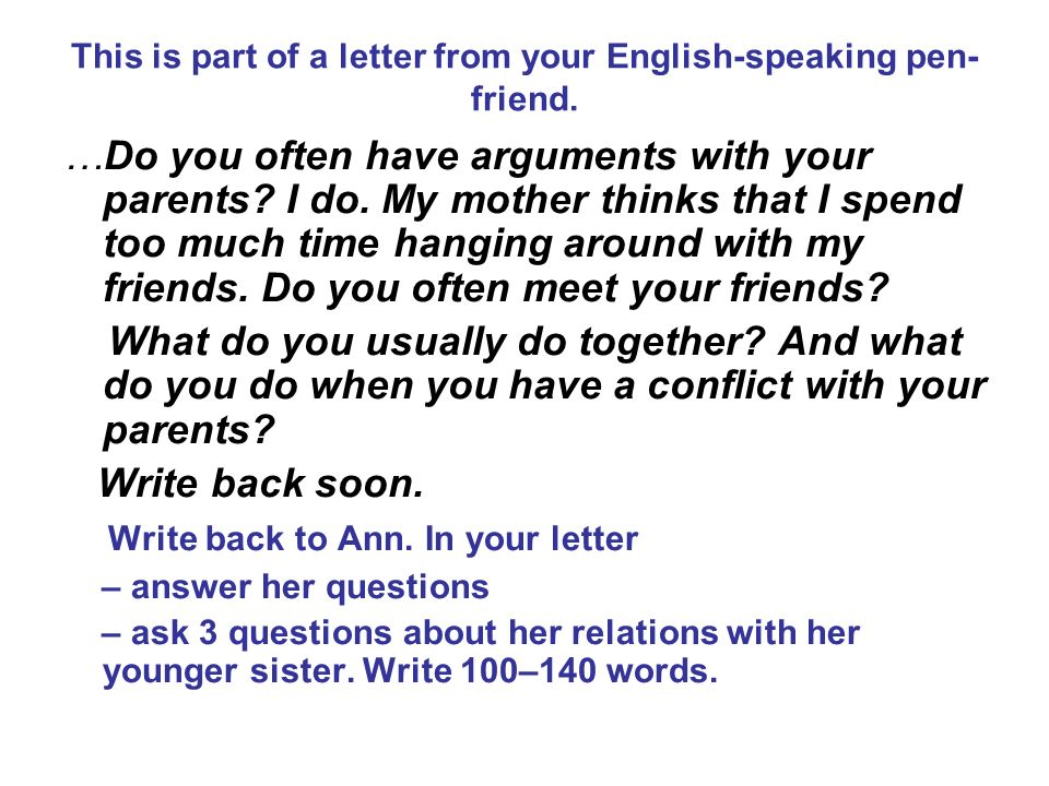 letter to your friend