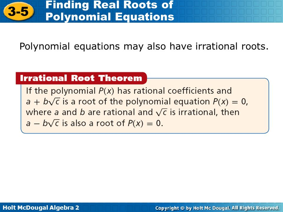 how to find real roots of a polynomial