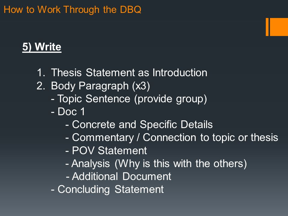 document analysis thesis statement