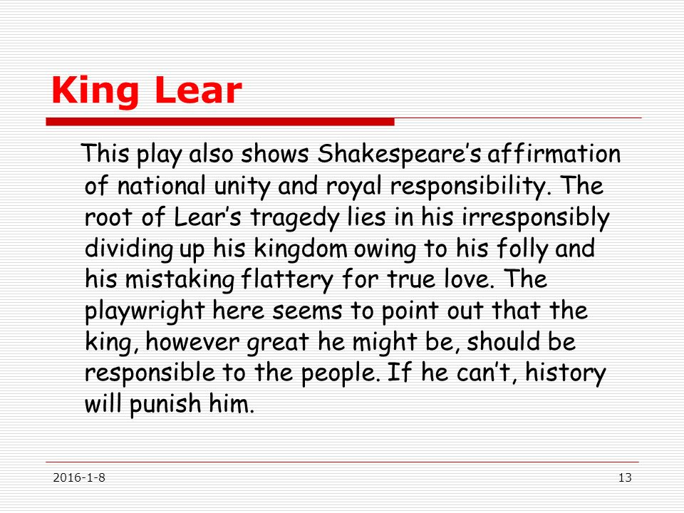 essay on blame in shakespeares king lear King lear william shakespeare  may blame but not control (iii724-27)   gloucester has faith in divine justice, just as lear has implored the gods for  justice.