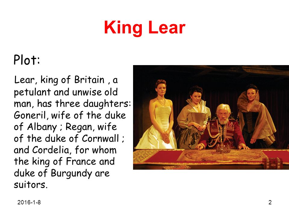 an overview of king lear by william shakespeare Complete summary of william shakespeare's king lear enotes plot summaries  cover all the significant action of king lear.
