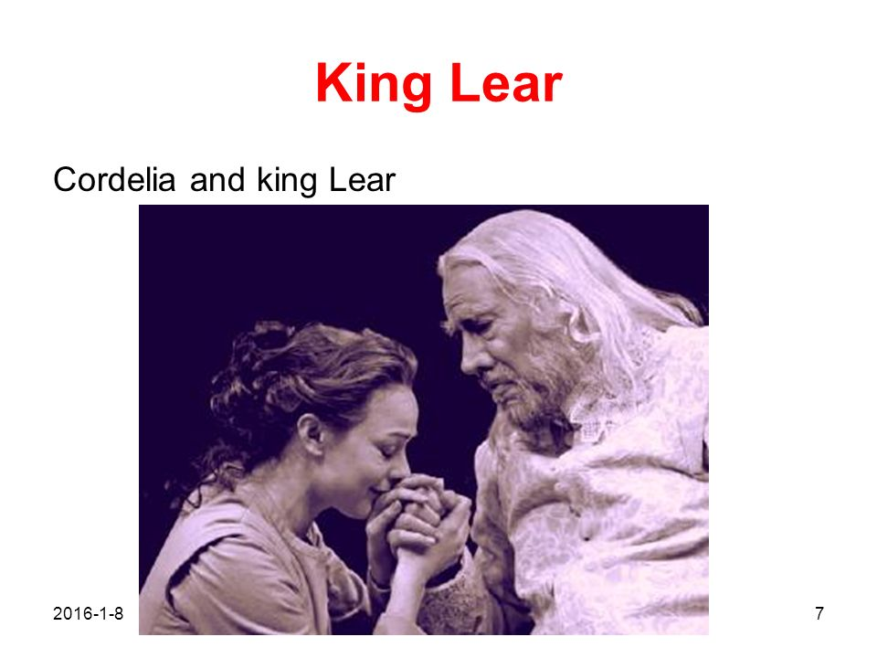 King Lear Cordelia and king Lear 2017/4/26