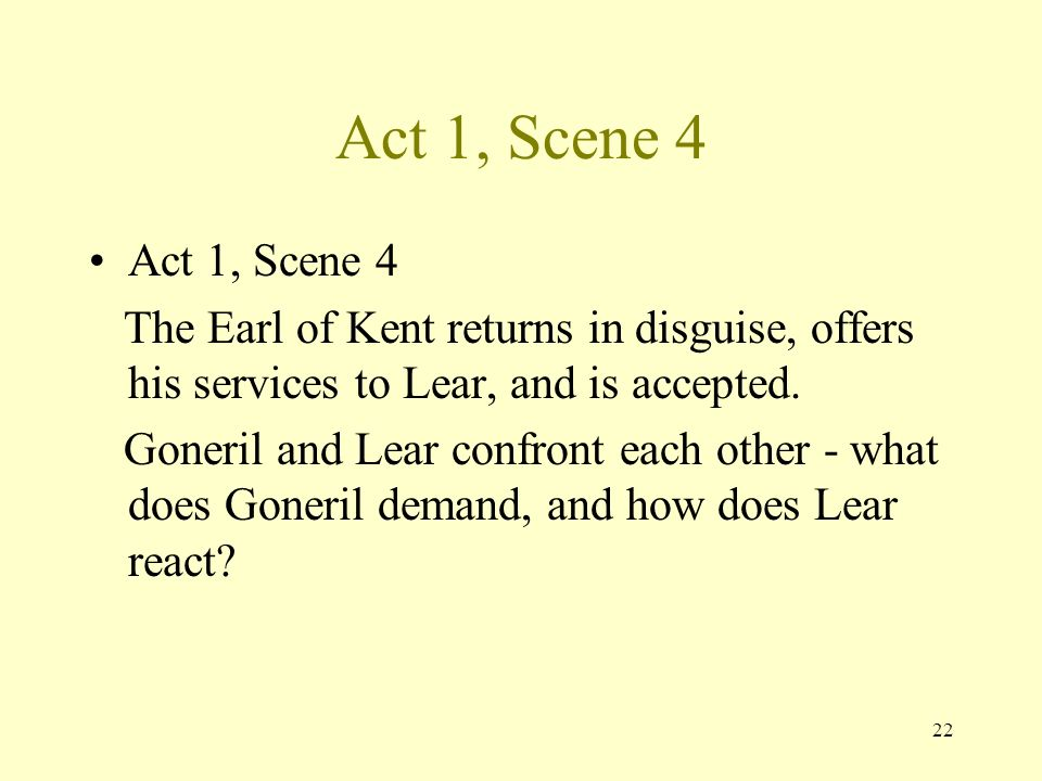 """dramatic irony in king lear act 2 4u king lear search this site home in act ii, scene iv, lear bemoans goneril's behavior by saying that """"she hath tied / sharp-tooth'd act 2, scene 2."""