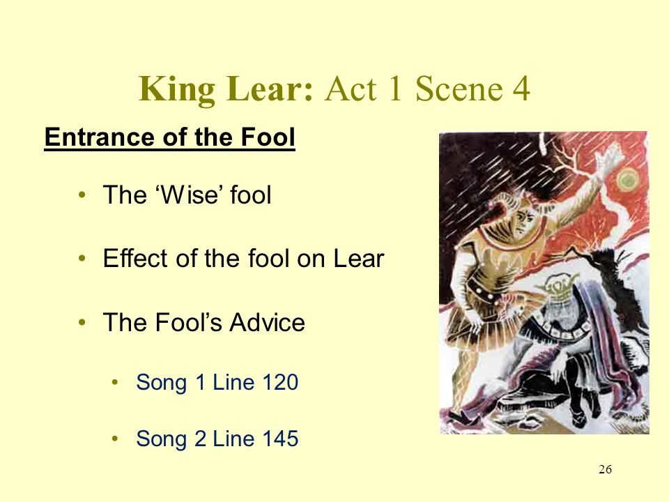 an analysis of the topic of the shakespeares kin lear