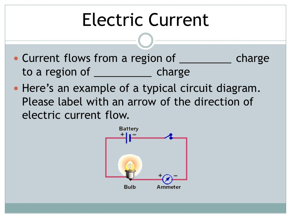"""flow of charge and electric current Electron flow vs current flow but we define electric current to be the opposite direction of electron flow what he told us to say is """"charge flows."""