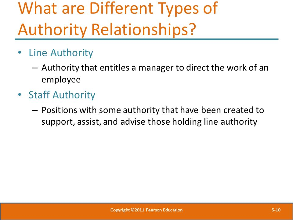 What are Different Types of Authority Relationships