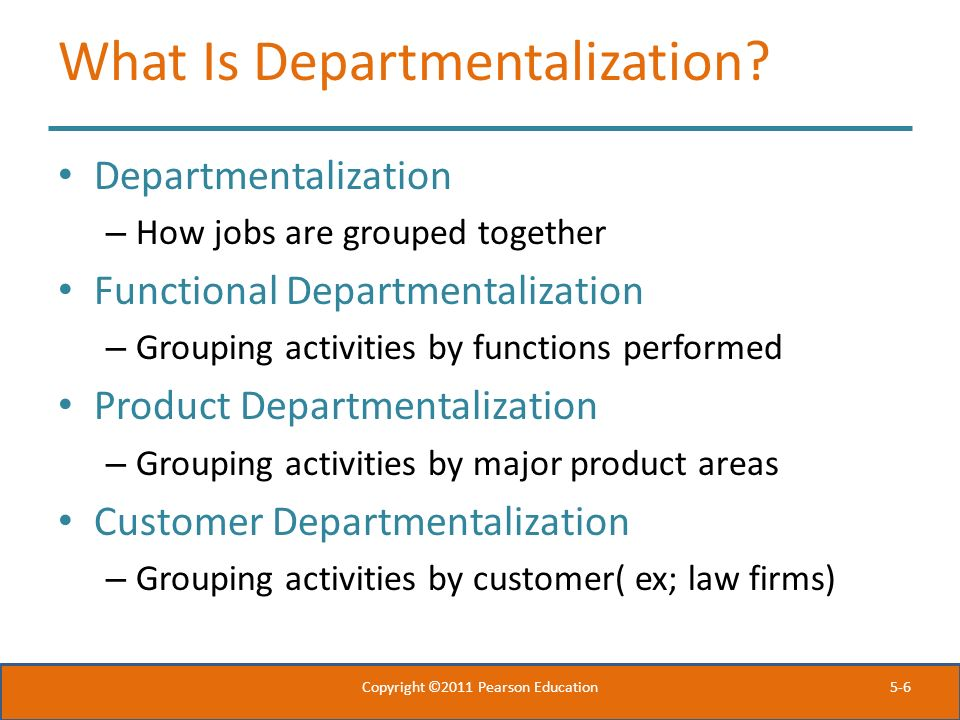 What Is Departmentalization