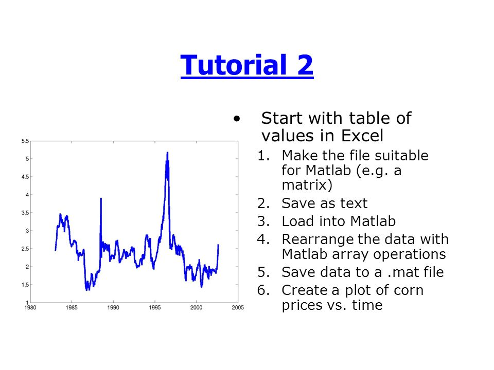 Matlab fundamentals working with data ppt video online for Table 2 matrix matlab