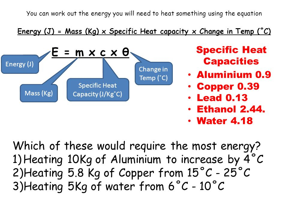 L O To Understand And Be Able To Calculate Specific